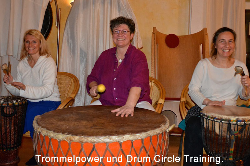 Rhythmus im Trommelpower und Drum Circle Training in der integralen Klangarbeit.