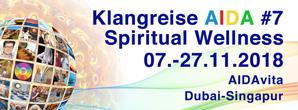 Banner, Klangtage, AIDA, Dubai, integral soundtraining, gongtraining