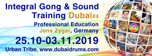 sound days dubai, jens zygar, integral soundwork, gongtraining