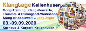 klangtage, kellenhusen, 2020, jens zygar, seminar, training, integrale klangarbeit, gongtraining; stimmgabel training, trommelpower, vortrag